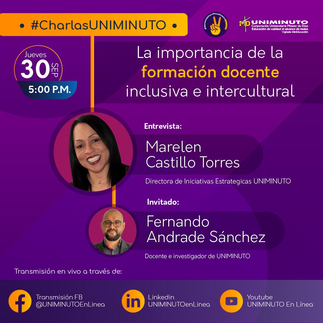 Webinars UNIMINUTO La importancia de la formación docente en la inclusiva e intercultural-1